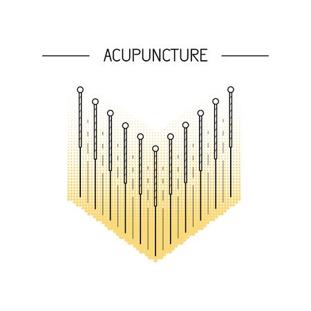ベクトルは、伝統的な中国医学、鍼治療に取り組んでいます。針で体の特定のポイントの刺激方法です。代替医療