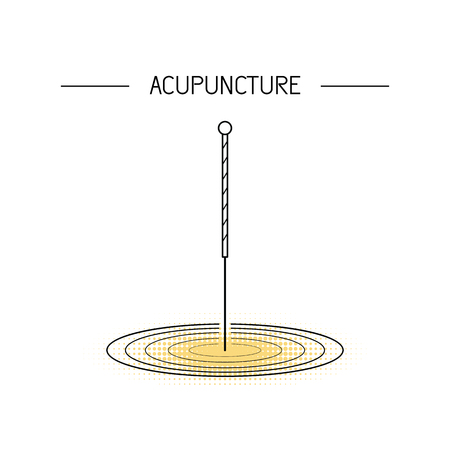 A Vector dedicated to traditional Chinese medicine, acupuncture. a method of stimulation of certain points on the body with needles. Alternative medicine