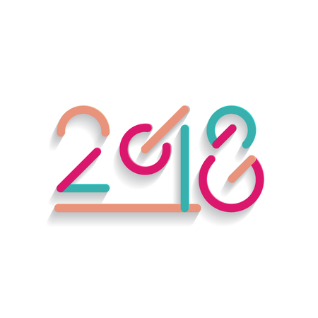 2018 Happy New Year text