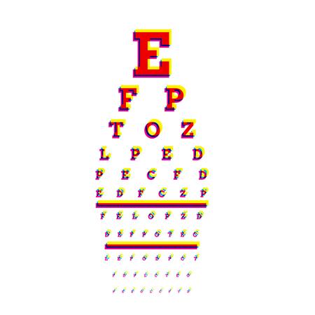 Vision test board