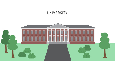 University building in a flat style vector