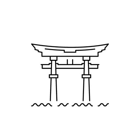 Japanese Gate, Temple Gate on the Lake Biwa