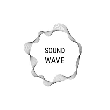 Music poster. Vector abstract background with dynamic sound waves, line and particles. Illustration suitable for design. Sound circle wave. Abstract music ripple, audio amplitude waves flux vector