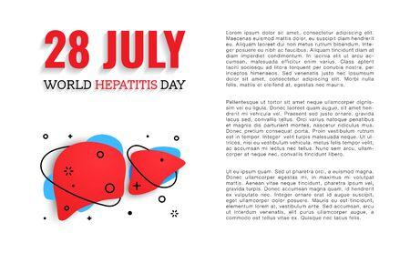 Vector illustration of World Hepatitis Day 28 july banner
