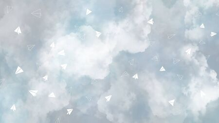 Full screen art abstract illustration sky cloud