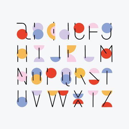 vector abc alphabet minimal hand drawn design