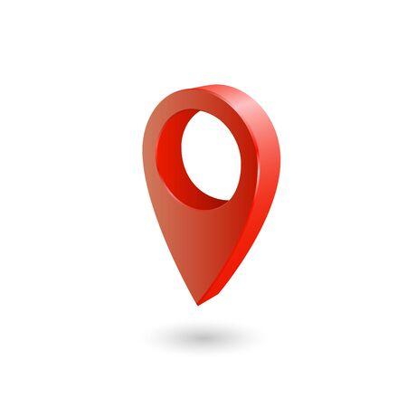 Set Map pointer 3d pin location symbols vector