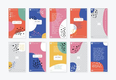 Vector design editable stories wallpaper background template