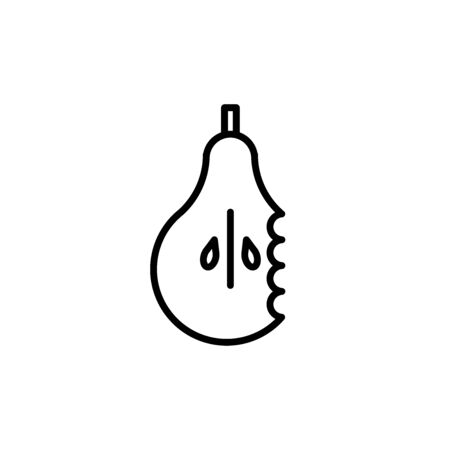 Vector organic waste icon. Garbage line icon separation. Food trash. Zero waste. Pear icon.