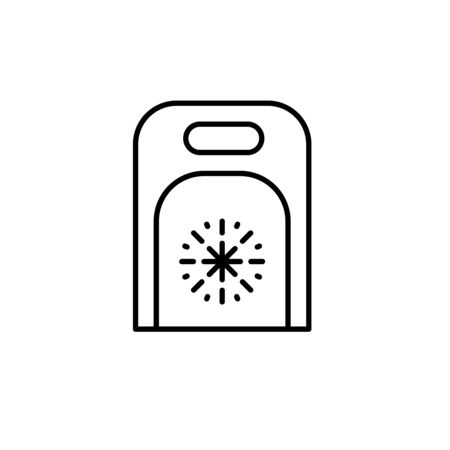 frozen food bag icon outline illustration