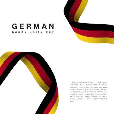 Germany Happy Unity Day october 3 celebrate banner Иллюстрация
