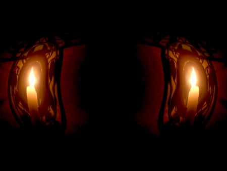 Dark Portal, mysterious and candles photo
