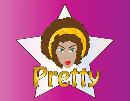 flirty: Piuttosto bruna riccio capelli Emblem