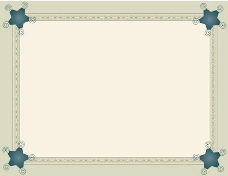 dark slate gray: Background framed with beige ribbon blue arabesques