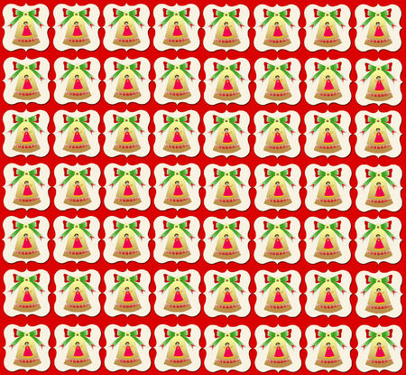 coral bell: Christmas Bells Wallpaper Red Background Stock Photo