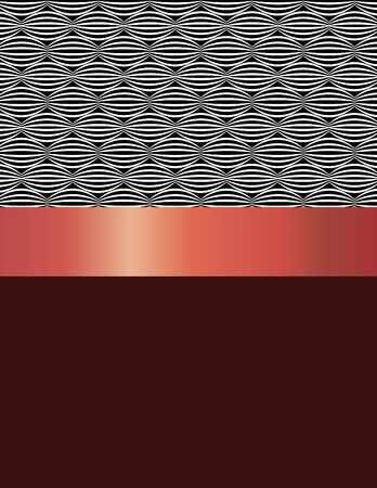 RED WALLPAPER: Pattern design black and white ovals. Stock Photo