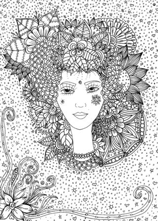 Goddess Flora Coloring Page