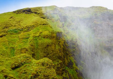 skogafoss waterfall: Hillside near the Skogafoss waterfall in Iceland