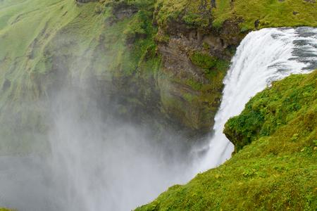 skogafoss waterfall: View of the Skogafoss waterfall in Iceland
