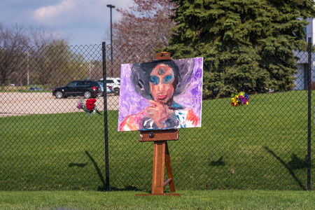 mn: CHANHASSEN MN USA - April 21 2016 - Remembering Prince at Paisley Park