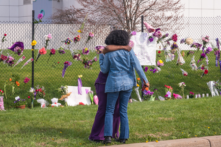 remembering: CHANHASSEN MN USA - April 21 2016 - Remembering Prince at Paisley Park