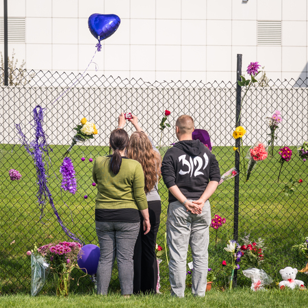 CHANHASSEN MN USA - April 21 2016 - Remembering Prince at Paisley Park