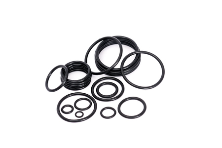 Different o-rings used for pipe repairing and sealing