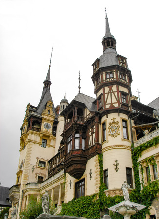 Peles Castle - touristic landmark on Prahova Valley near Sinaia