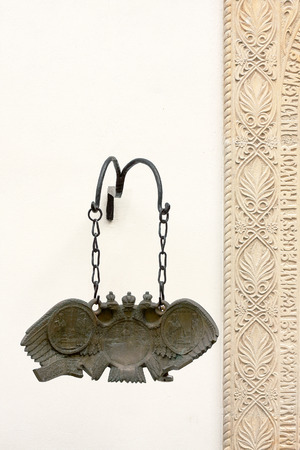 Ideophone of Tismana monastery - tool for calling believers to the religious service