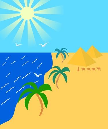 Summer travel landscape Stock Vector - 11590375