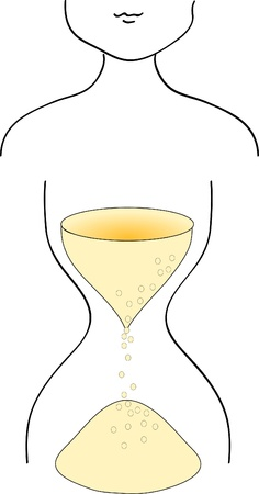 Woman silhouette with hourglass type of  shape