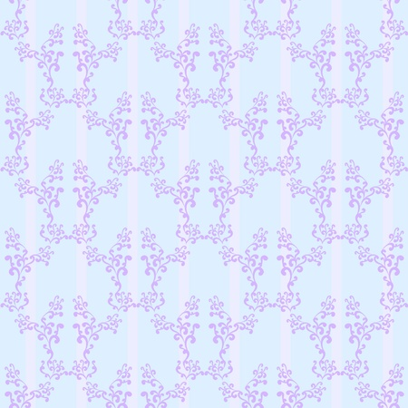 Blue stripped seamless wallpaper background pattern design Vector