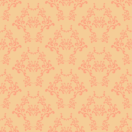 Yellow and pink seamless wallpaper background pattern design Vector