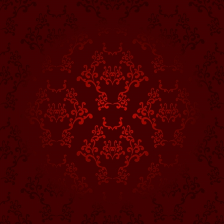 Dark and light red seamless wallpaper background pattern design Ilustrace