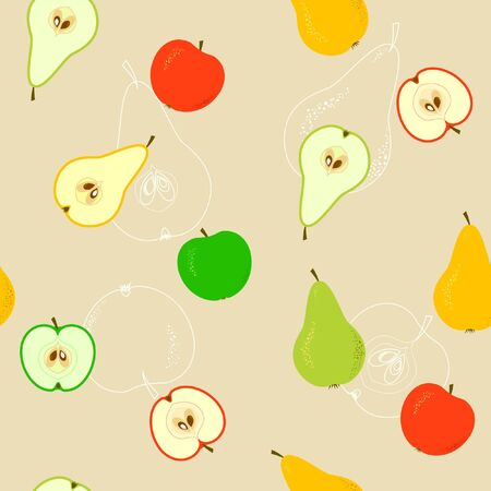 Seamless With Apples And Pears Ilustrace