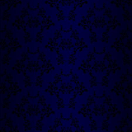 revivalism: Blue Seamless Wallpaper Pattern Illustration