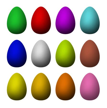 Set of single-colour easter painted eggs Stock Photo - 17847049