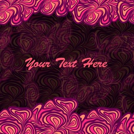 Pink Background With Border Illustration
