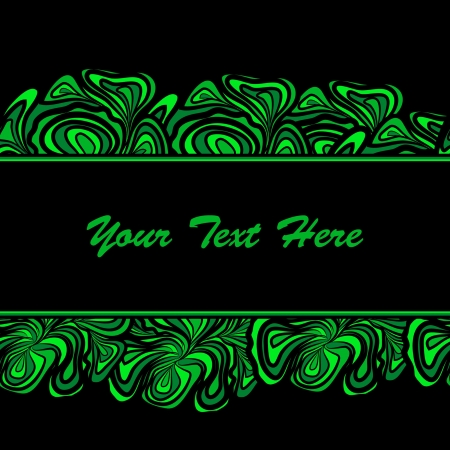 Green Abstract Borders Of Stripe Stock Vector - 17847056