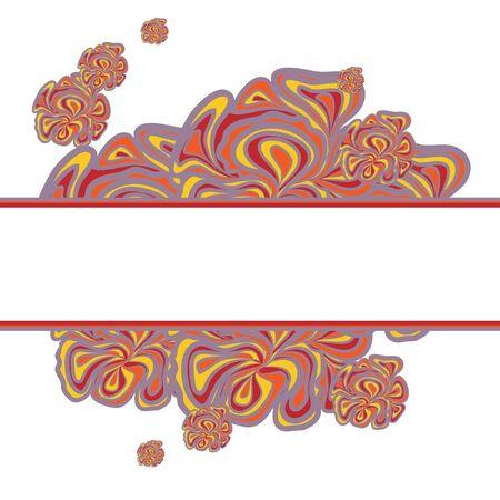 voilet: Lilac-orange Design With Stripe Illustration