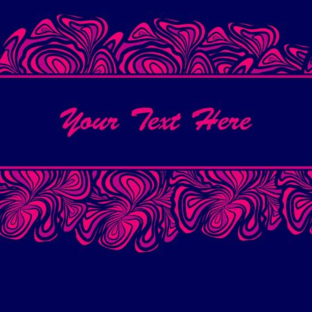 Pink Border On Blue Background Stock Vector - 17964242