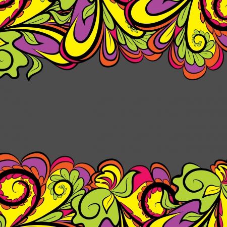 Bright Floral Border Stock Vector - 17964222