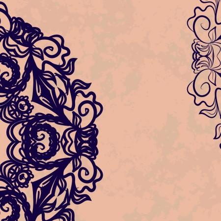 Grunge tatoo invitation card Stock Vector - 18010579