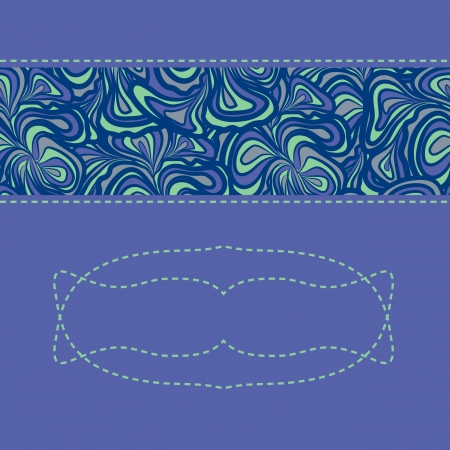 Abstract pattern with stripe of purple-blue floral design. Stock Vector - 18118989