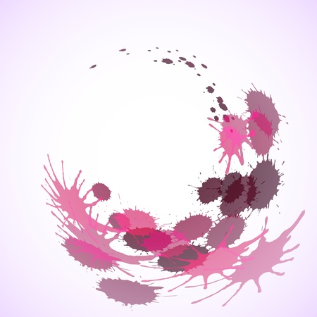 Abstract background with pink rings of blots. Stock Vector - 18119021
