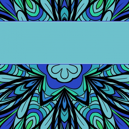 bluegreen: Abstract blue-green pattern with stripe for your text Illustration
