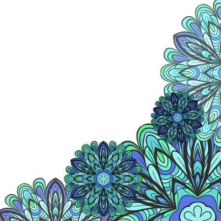 Abstract blue-green pattern with space for your text Vector