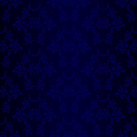 revivalism: Blue seamless wallpaper background pattern design. Damask wallpaper.