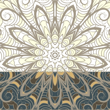 serviette: Abstract pattern design with floral ornament and dark bottom