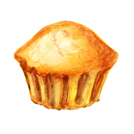 Watercolor image of muffin photo